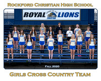Rockford Christian Fall 2020 Girls Cross Country 8x10 Team White