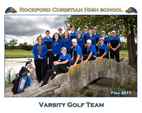 Rockford Christian Team 8x10 Fall 2017 Boys Girls Golf