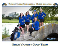 Rockford Christian Team 8x10 Fall 2017 Girls Golf