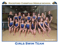 Rockford Christian MS Girls Swimming  8x10 Team Winter 2017