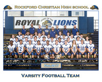 Rockford Christian Team 8x10 Fall 2017 Football Varsity