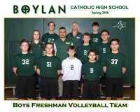 Boylan Team 8x10 Spring  2018 Freshman Volleyball Team